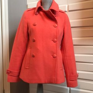 Pink Pea Coat w/Anchor Buttons